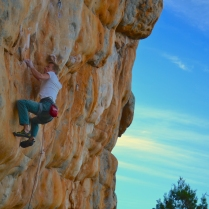 Tes giving his all to not be another Punk (The Pharos, Arapiles – Australia)