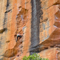 Nick getting Groovy (Taipan Wall, Grampians – Australia)